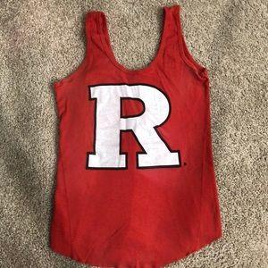 "Tops - Rutgers ""R"" tank"